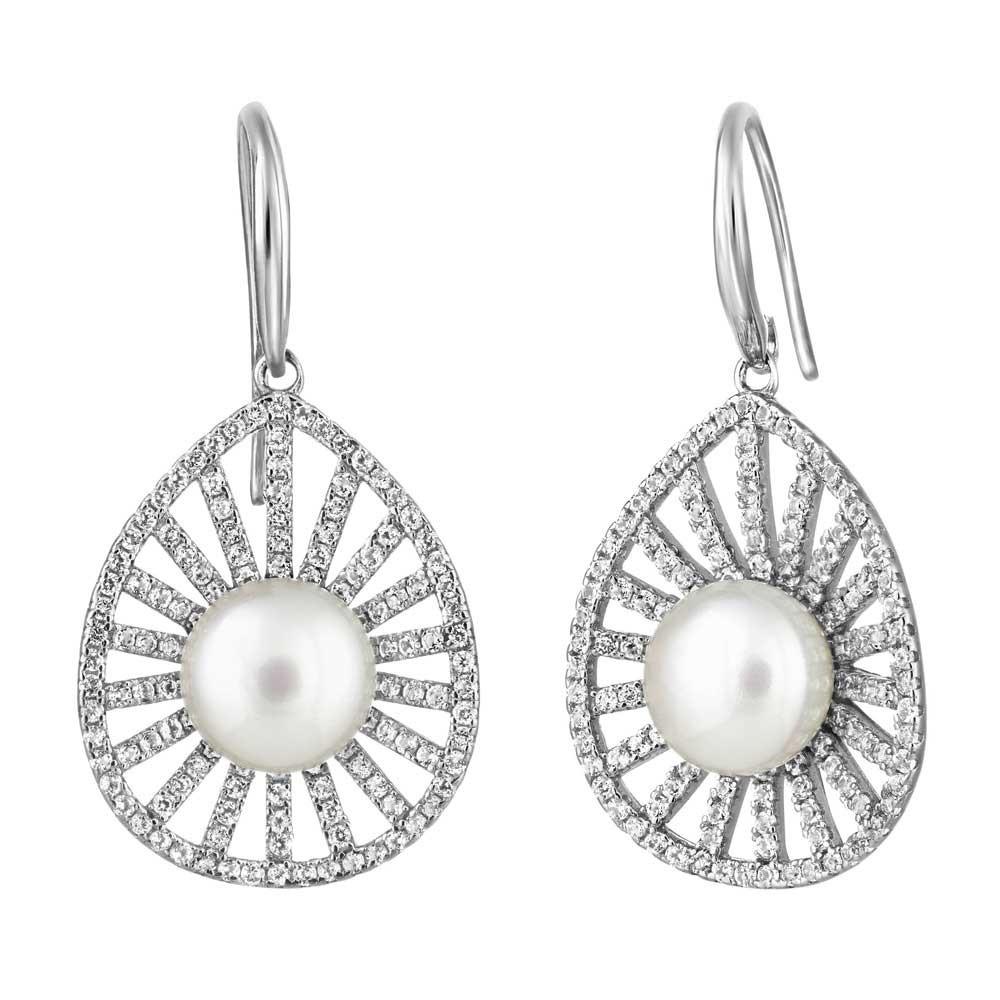 Jersey Pearl Marette Leaf Pearl Earrings | MRTE3RW