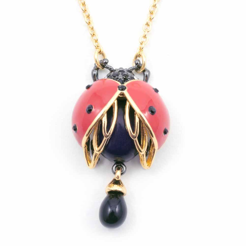 Bill Skinner Bejewelled Ladybird Pendant, Gold