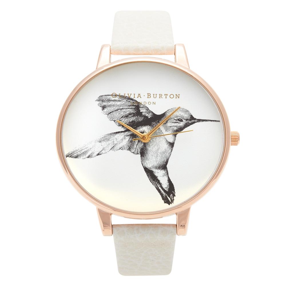 Olivia Burton Animal Motif Hummingbird Rose Gold Watch   OB13AM06