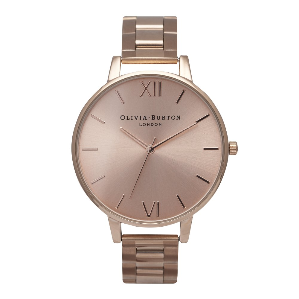 Olivia Burton Big Dial Rose Gold Bracelet Watch | OB13BL07BS