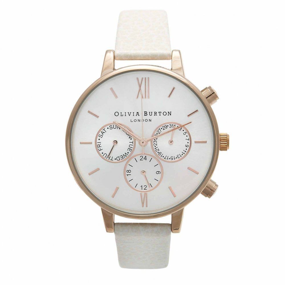 Olivia Burton Chrono Detail Mink & Rose Gold Watch | OB13CG01C