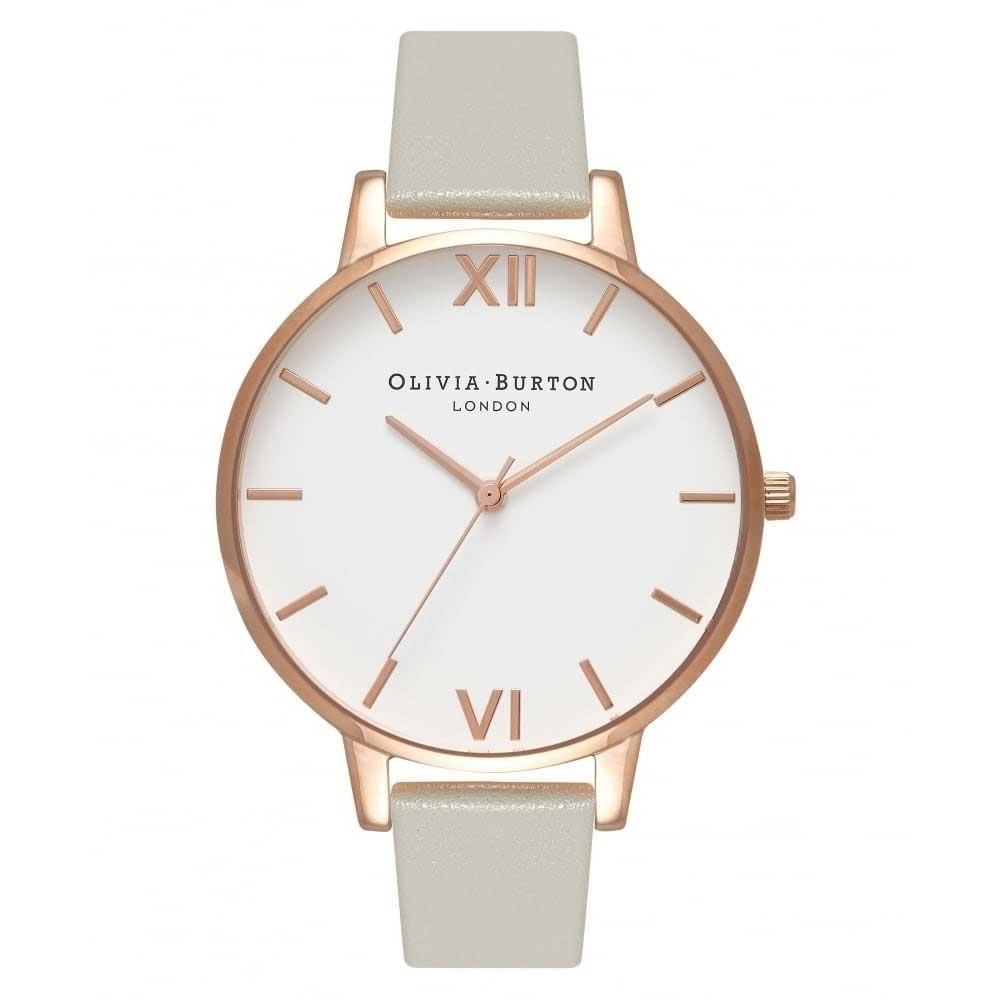 Olivia Burton Big Dial Grey & Rose Gold Watch