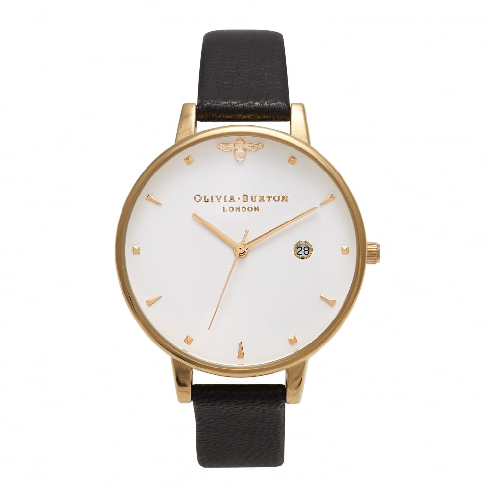 Olivia Burton Animal Motif Black & Gold Watch | OB16AM86