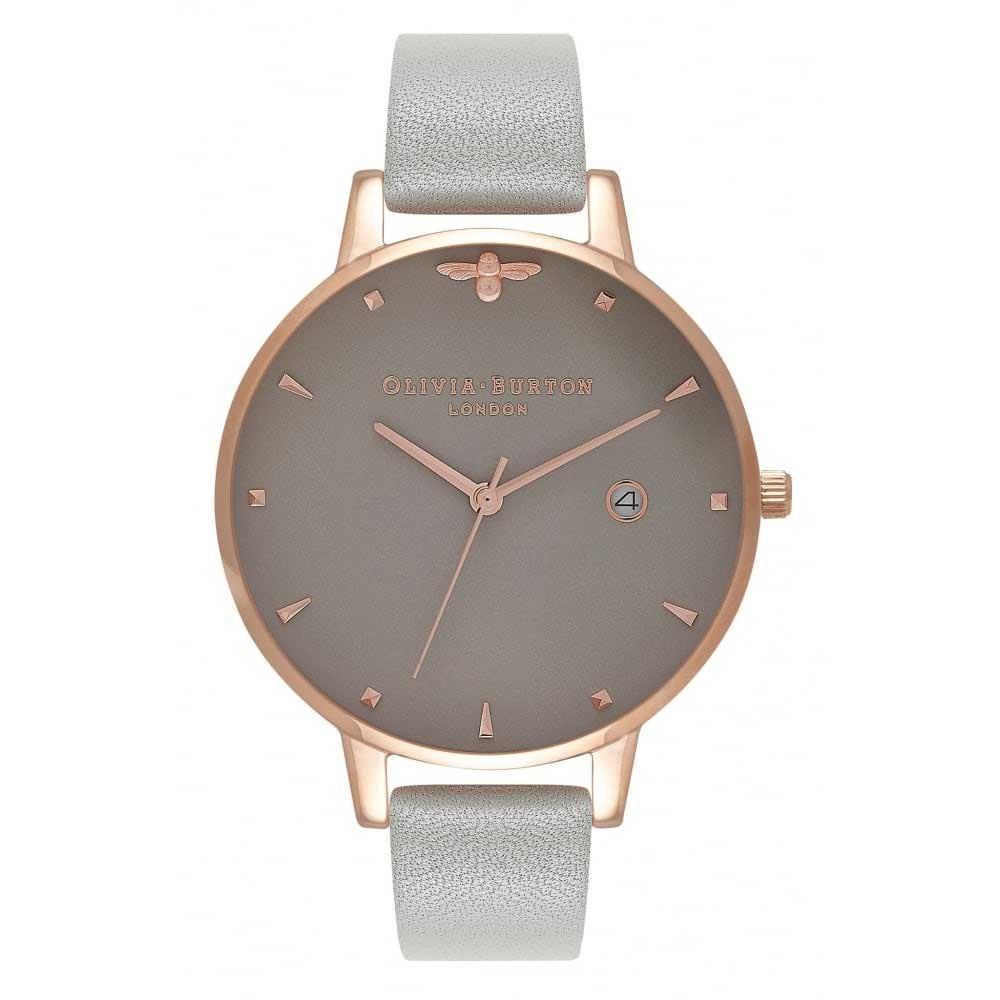 Olivia Burton Animal Motif Grey & Rose Gold Watch
