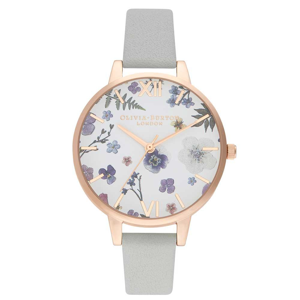 Olivia Burton Artisan Grey & Pale Rose Gold Watch