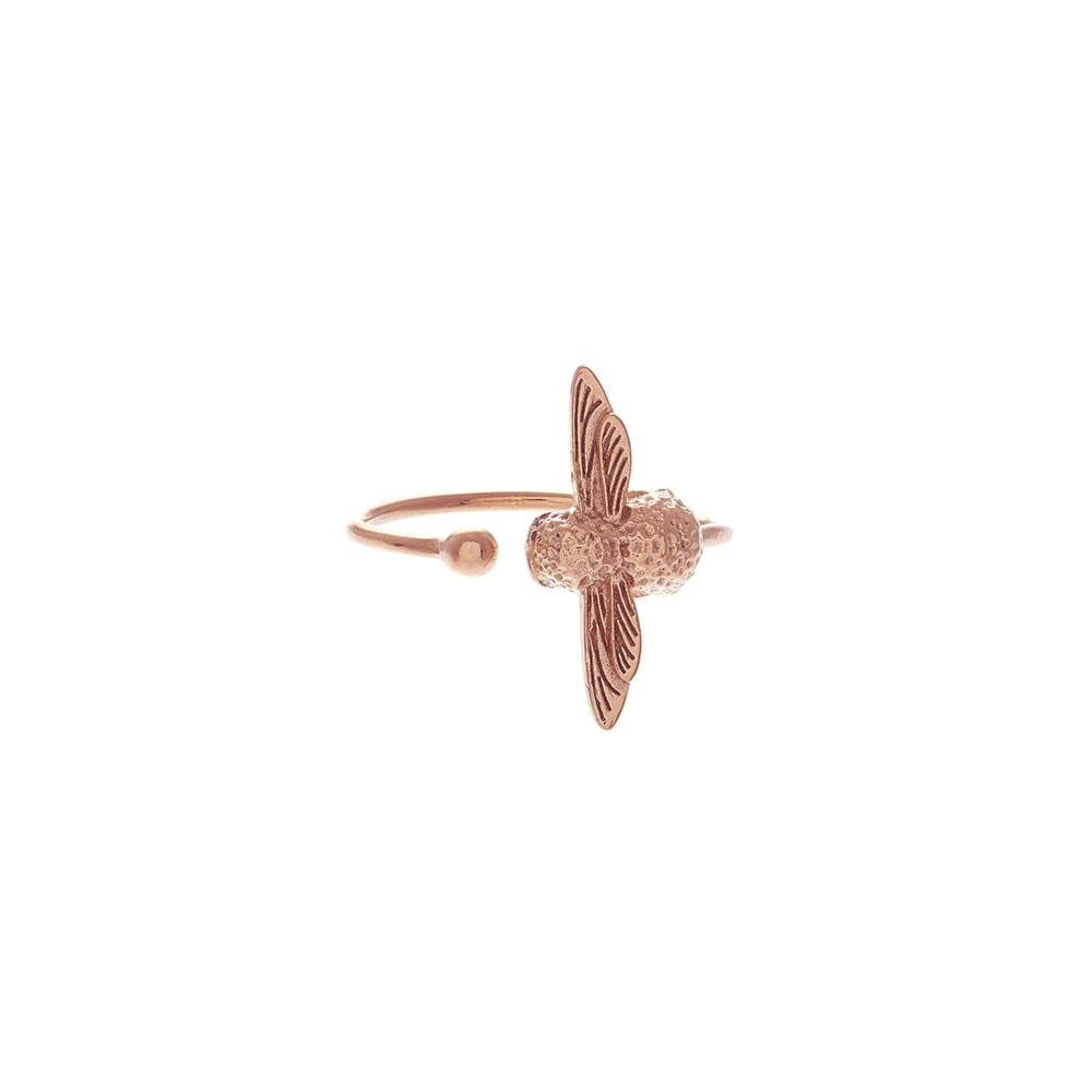 Olivia Burton 3D Bee Rose Gold Ring