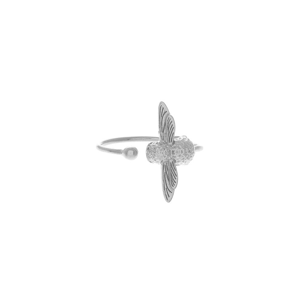 Olivia Burton 3D Bee Silver Ring