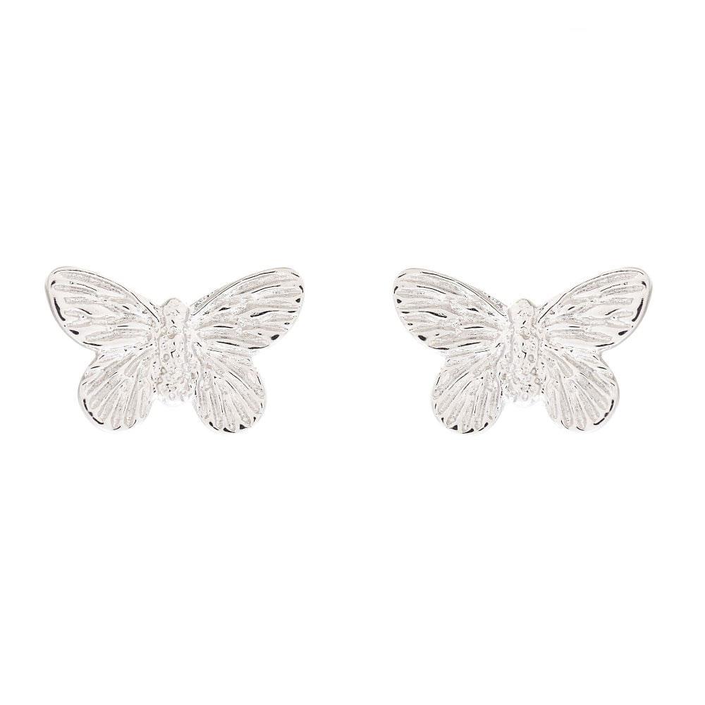 Olivia Burton 3D Butterfly Silver Stud Earrings