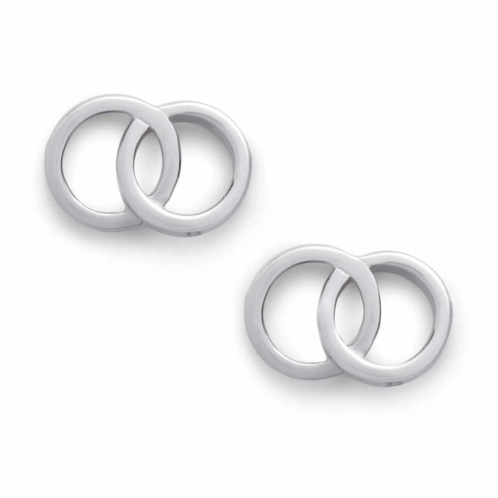 Olivia Burton The Classics Interlink Earrings, Silver