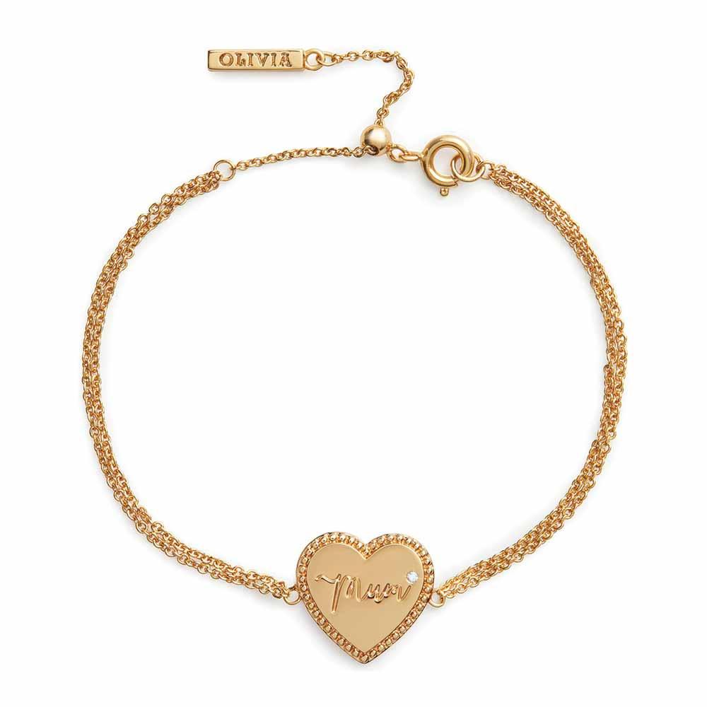 Olivia Burton Mother's Day Mum Bracelet, Gold