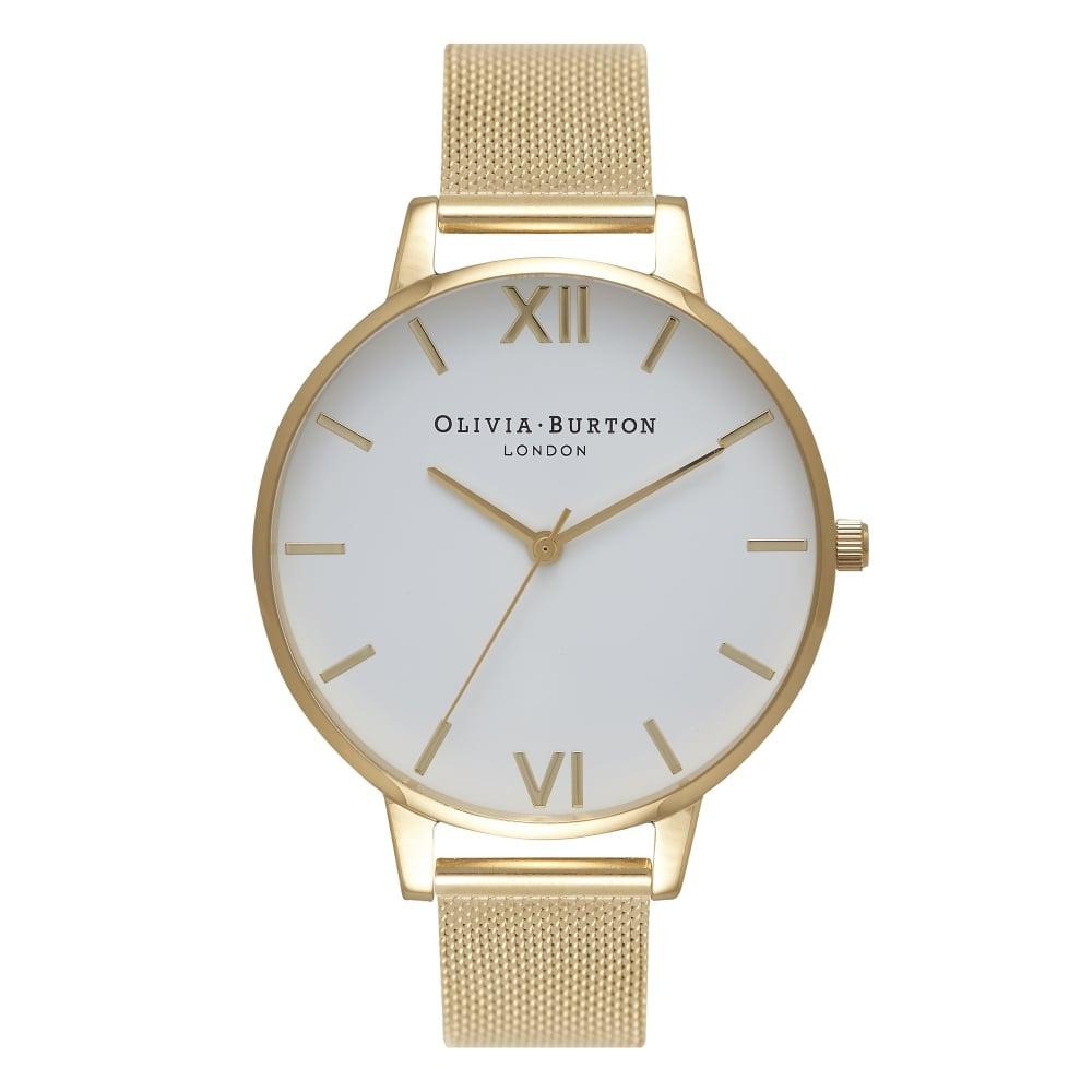Olivia Burton Big Dial Gold Mesh Watch