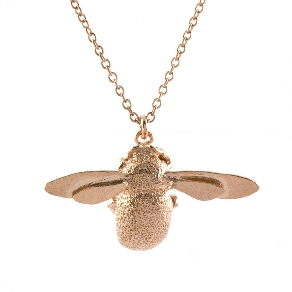 Alex Monroe Bumblebee Rose Gold Necklace | OSN1/RGP
