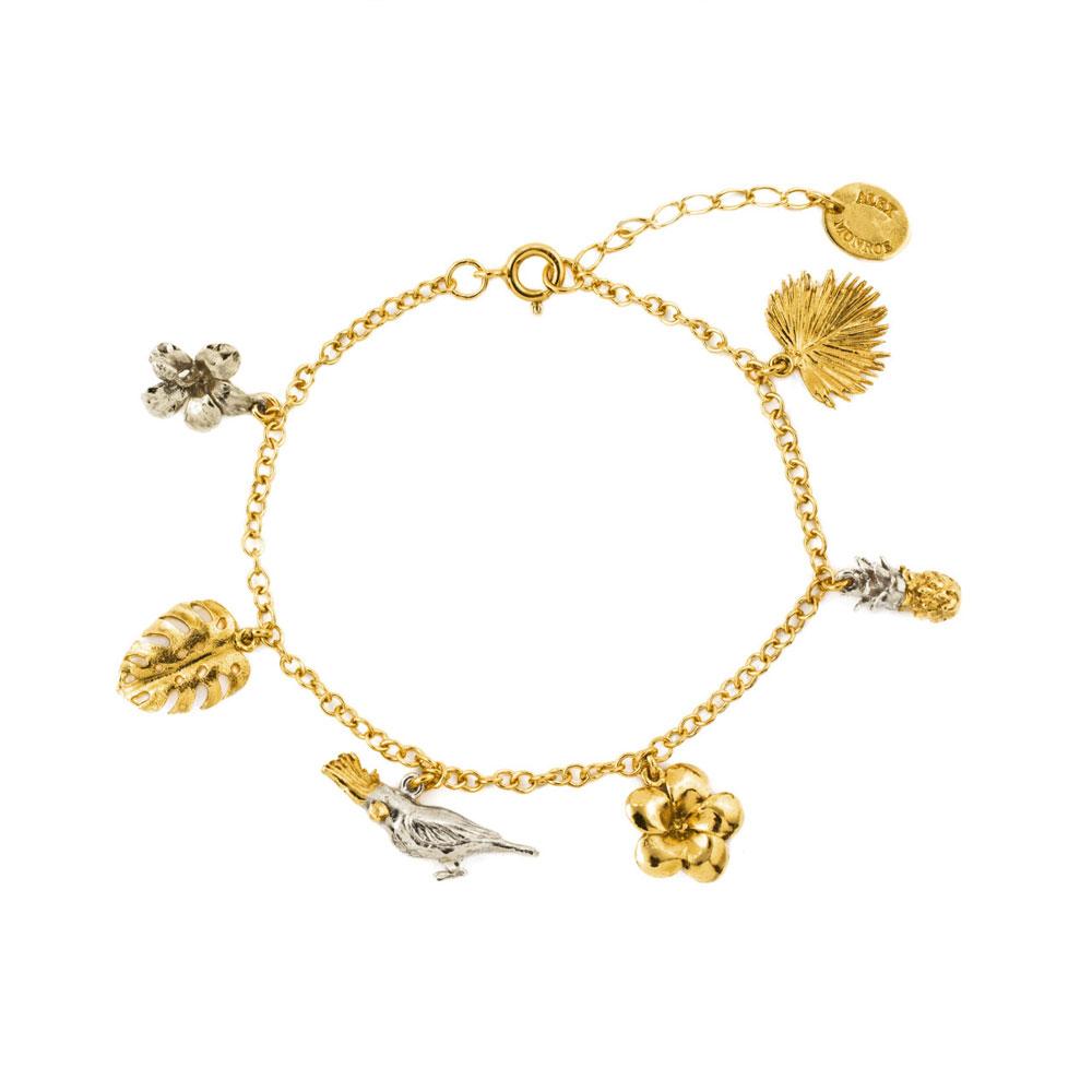 Alex Monroe Paradise Charm Bracelet | PHB3/MIX