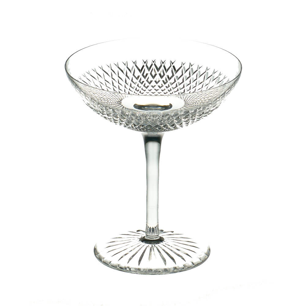 Cumbria Crystal  SIX  Champagne Saucer II (Single Glass)