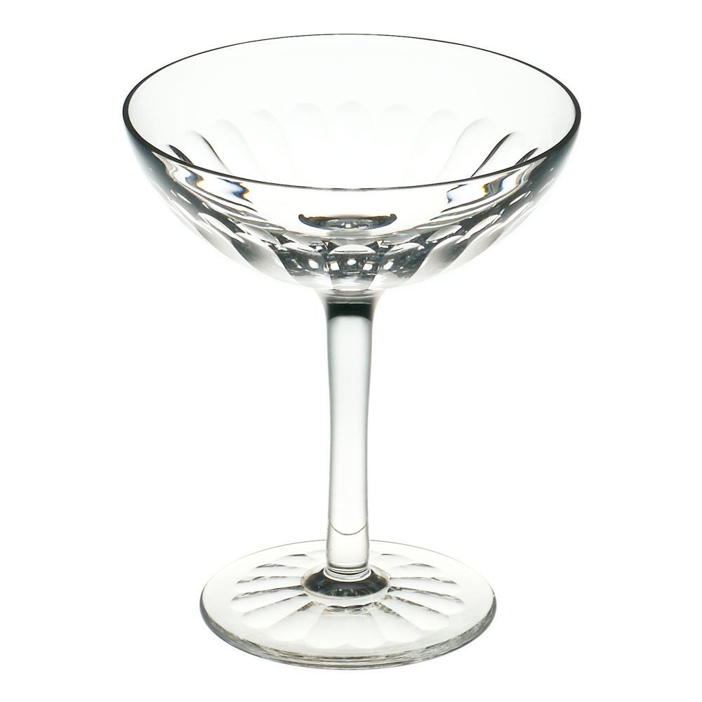 Cumbria Crystal  SIX  Champagne Saucer III (Single Glass)