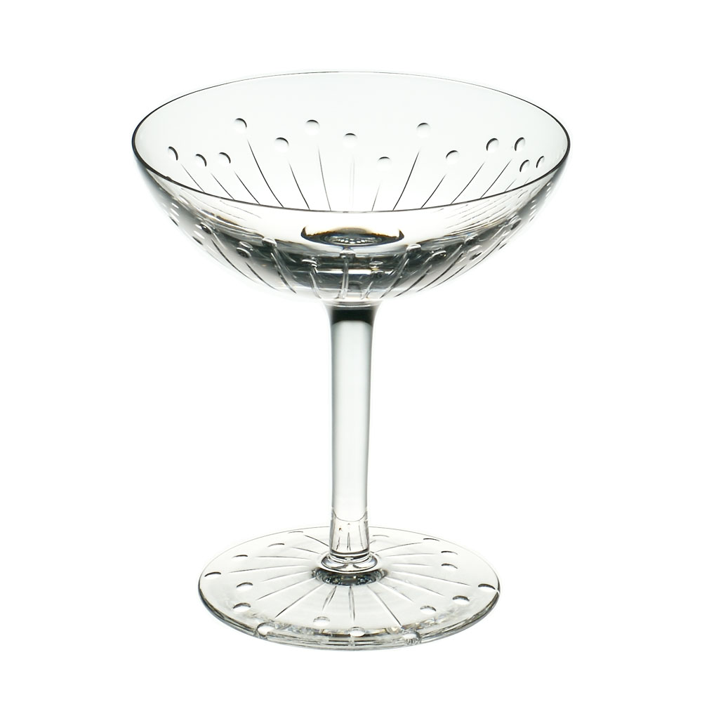 Cumbria Crystal  SIX  Champagne Saucer IV (Single Glass)