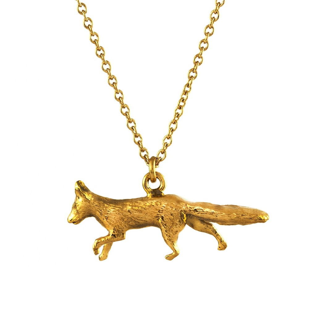 Alex Monroe Prowling Fox Necklace | TCN8/GP