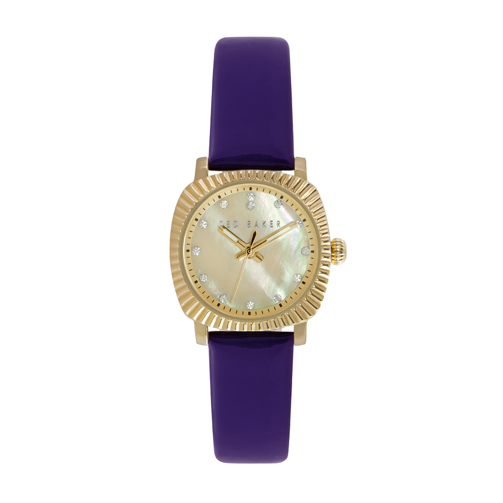 Ted Baker Ladies' Purple Leather Strap Gold Watch | TE10024722