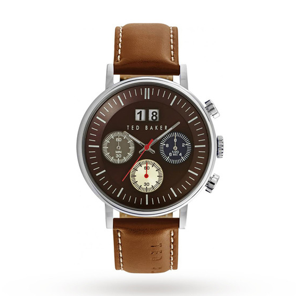 Ted Baker Men's Brown Dial & Brown Leather Strap Watch | TE10024799