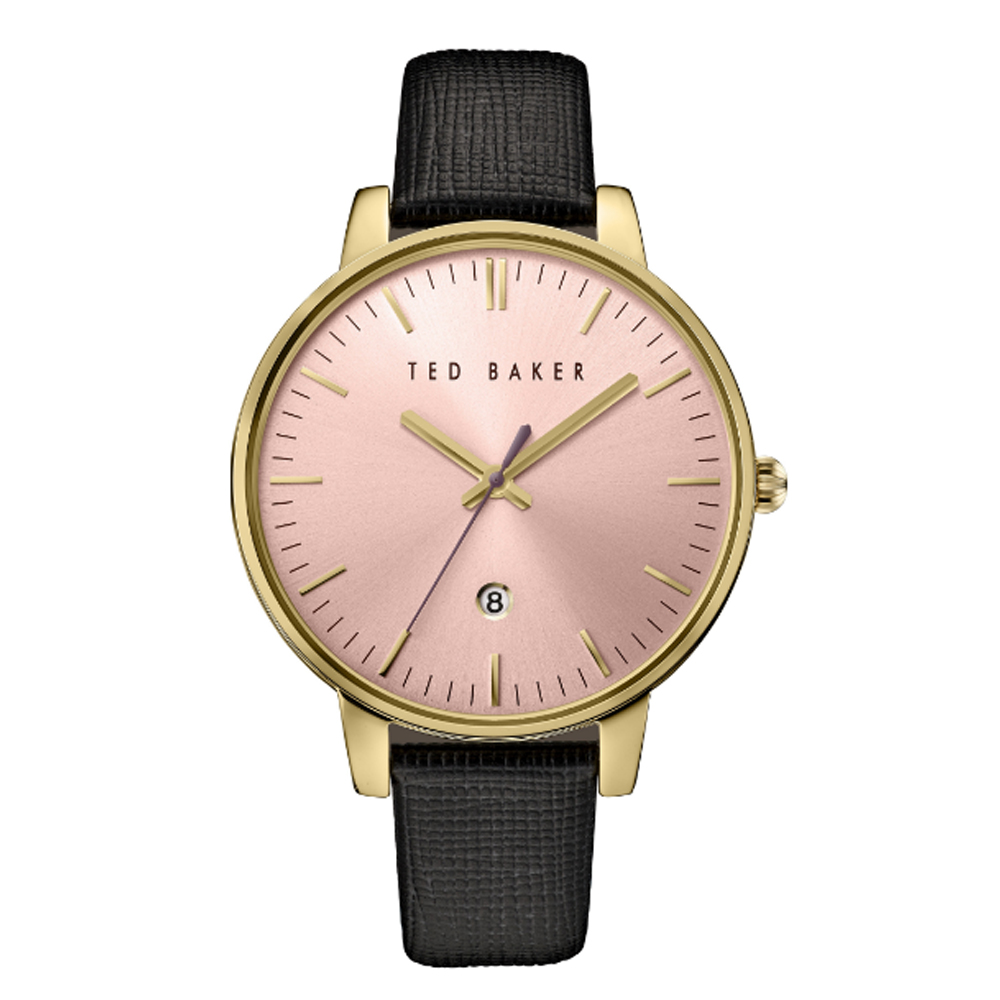 Ted Baker Ladies' Gold Toned Pink Dialed Watch | TE10030740