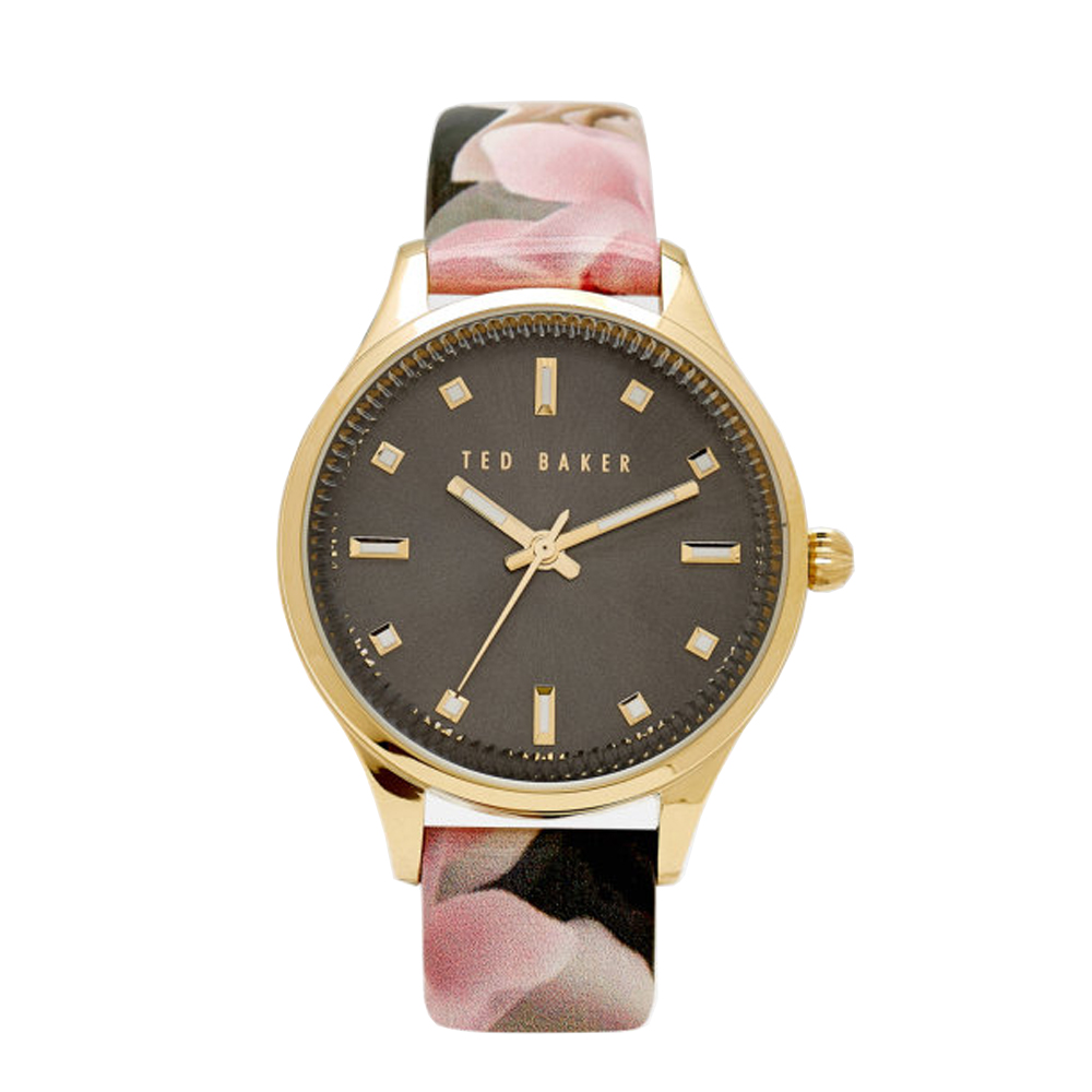 Ted Baker Ladies' Floral Pattern Gold Toned Watch | TE10030742