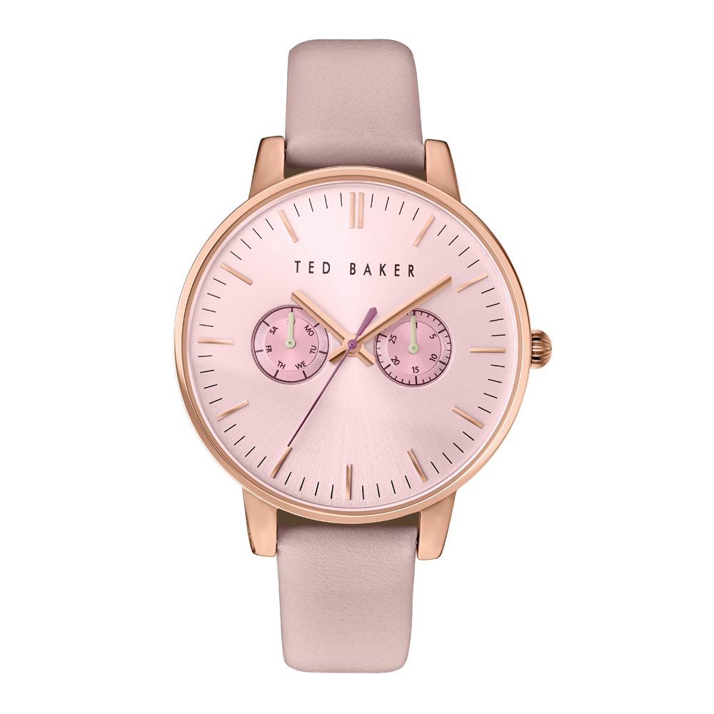 Ted Baker Ladies' Pink Dial & Leather Strap Watch | TE10030747
