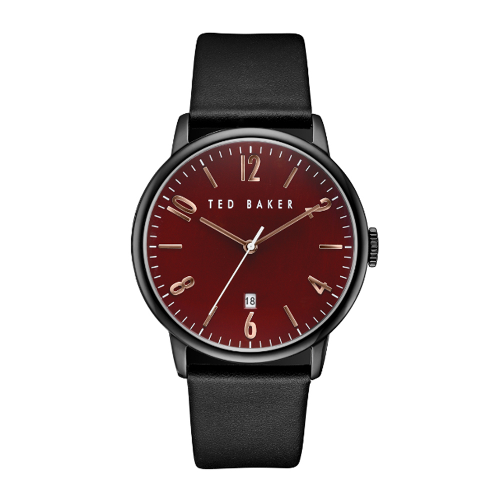 Ted Baker Men's Red Dial Leather Strap Watch | TE10030754