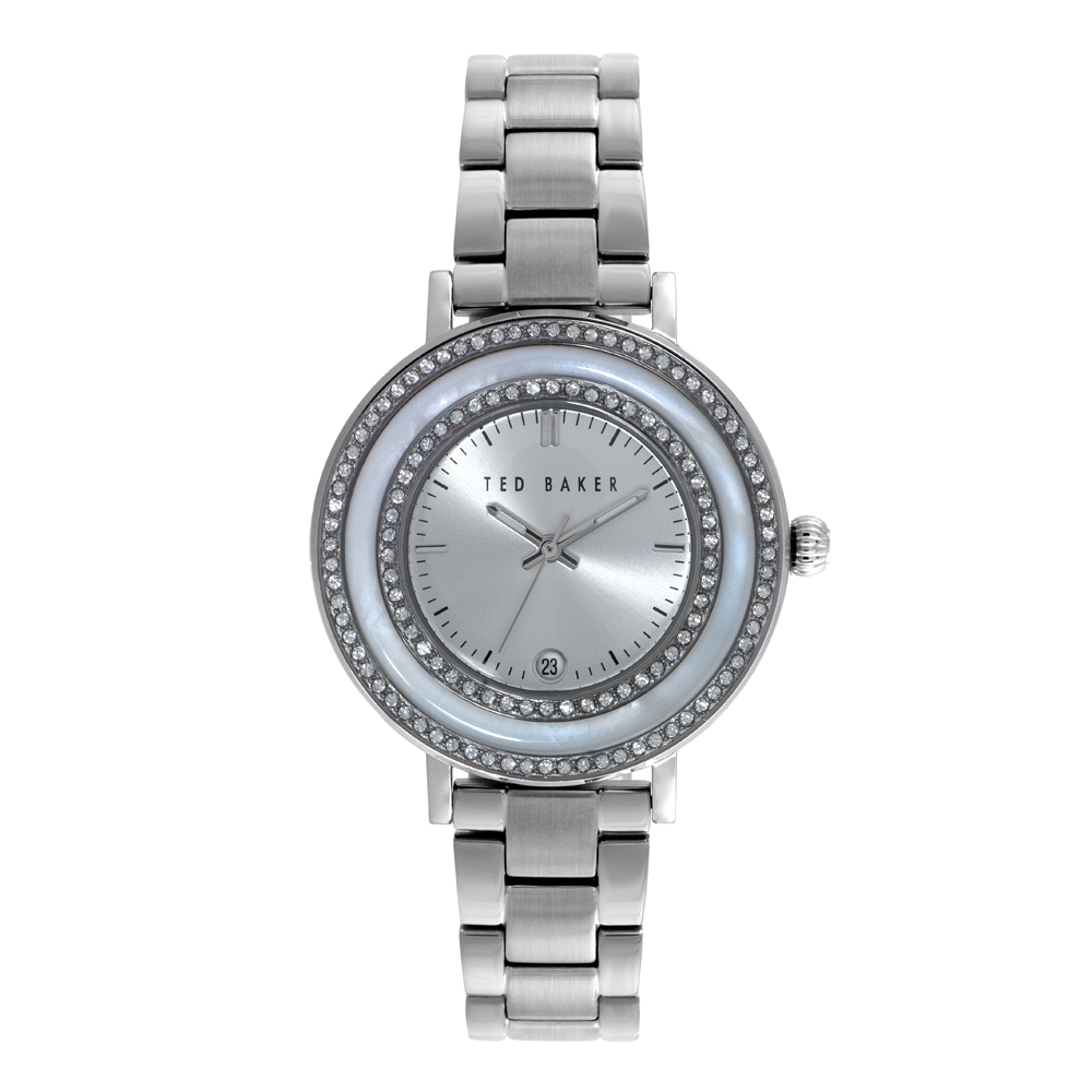 Ted Baker Ladies' Crystal Detail Silver Tone Watch | TE4106