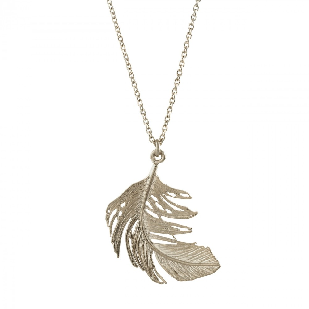Alex Monroe Big Feather Silver Necklace | TFN1/S