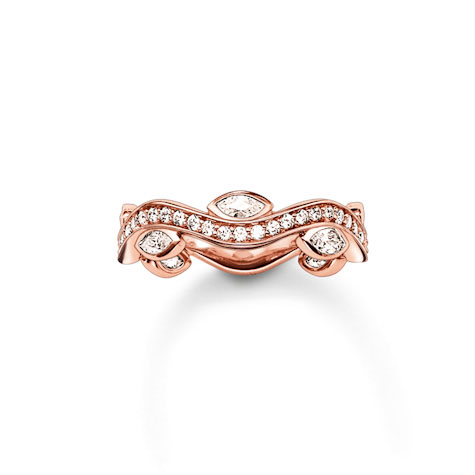 Thomas Sabo Glam & Soul 'Eternity of Love' Rose Gold Ring, Size 52 | TR2011-416-14-52