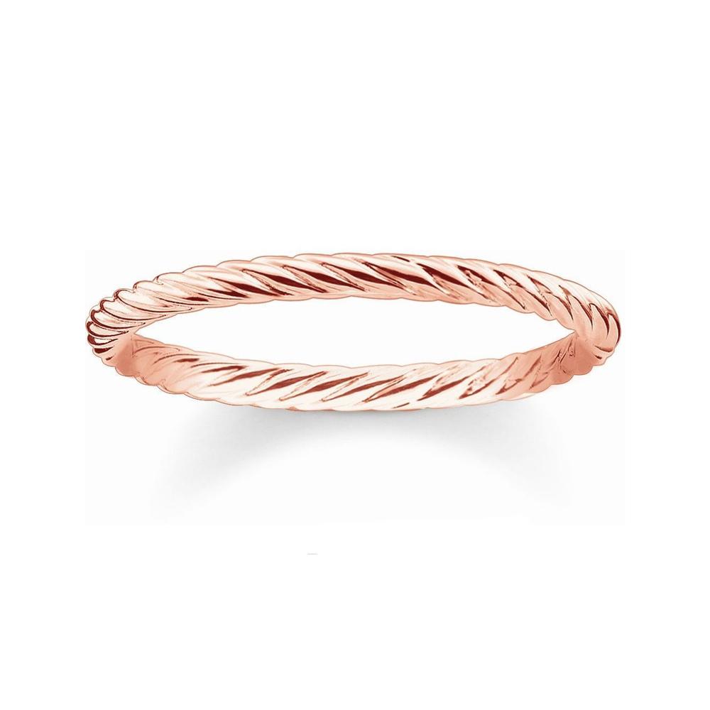 Thomas Sabo Glam & Soul Rose Gold Cord Ring Size 52 | TR21214151252