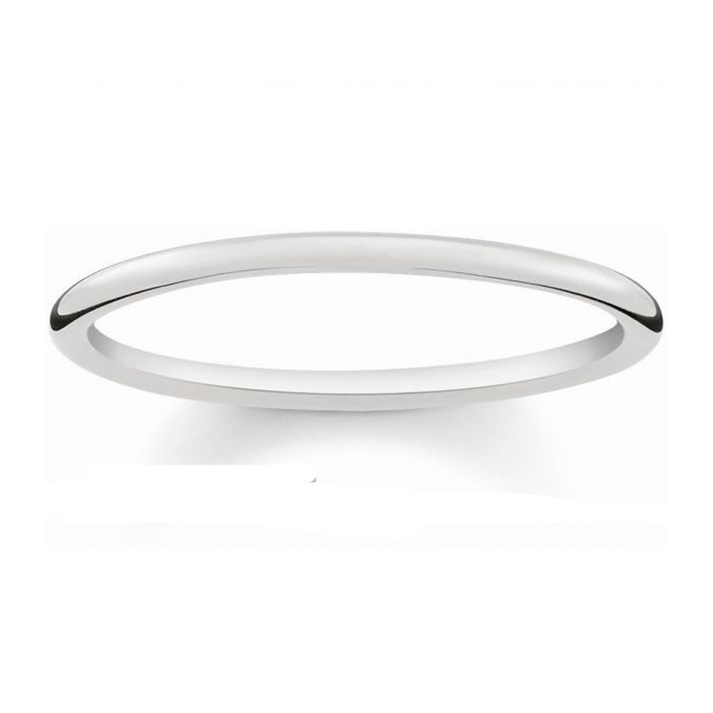 Image of Thomas Sabo Glam & Soul Silver Band Ring, Size 52 | TR2123-001-12-52