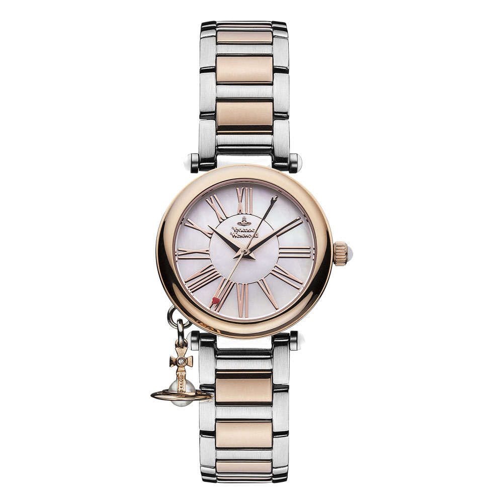 Vivienne Westwood Orb Ladies' Mother Rose Gold & Silver Tone Watch | VV006PRSSL