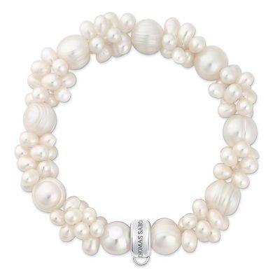 Thomas Sabo Charm Club Clustered Pearl Charm Bracelet Large | X006008214L