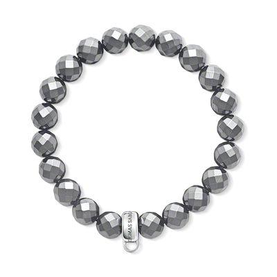 Thomas Sabo Charm Club Simulated Hematite Charm Bracelet Medium | X018706411M