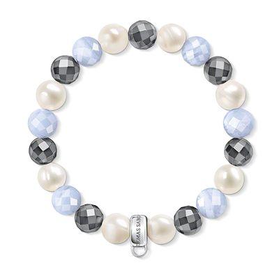 Thomas Sabo Charm Club Mulitcoloured Blue Charm Bracelet 16.5 cm | X01936027L165